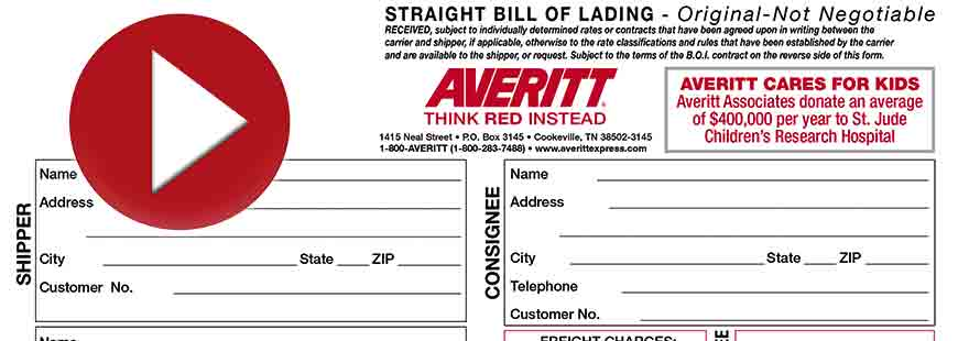 Create A Bill Of Lading | Averitt Express
