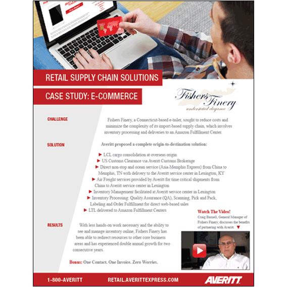 Download e-commerce supply chain case study